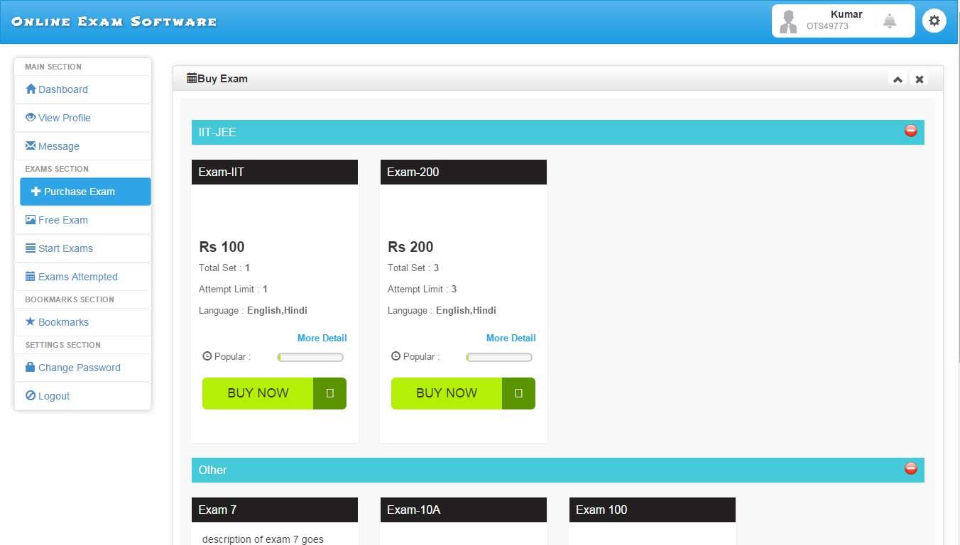 online exam software online examination software